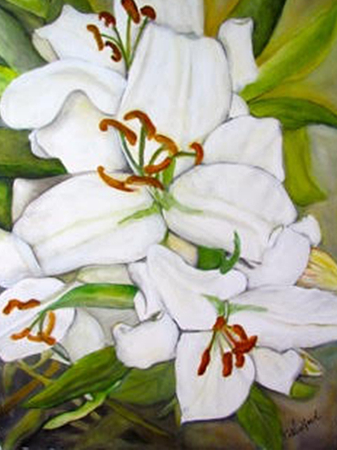 Sun Kissed Lillies- sold